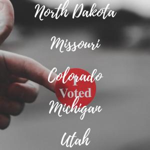 North Dakota, Utah, Missouri, Michigan, Colorado, Voting ballot, I voted